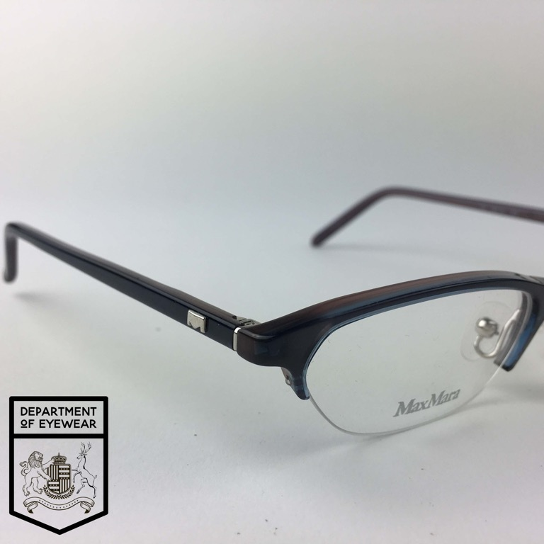 81ca43e4f266 Details about MAX MARA eyeglasses BLUE MOTTLE SUPRA CATS EYE glasses frame  MOD: MM 204