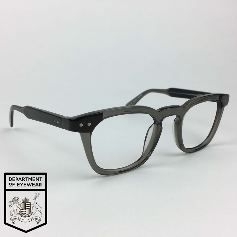 009f86bf3b27 Details about SPECSAVERS eyeglasses GREY RECTANGLE KEYHOLE BRIDGE frame  MOD  30293489