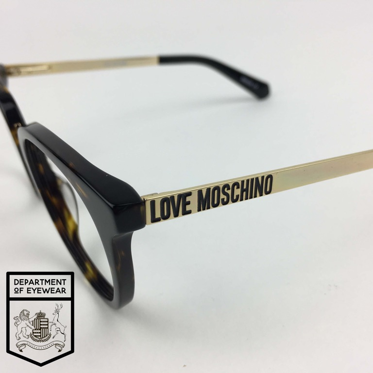 2cd27191aca3 MOSCHINO eyeglasses TORTOISE ROUNDED CATS EYE FRAME Authentic MOD ...